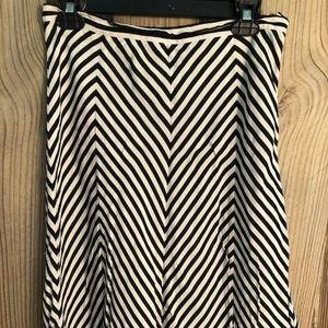 MICHAEL KORS Womens Black White Skirt 8 Chevron